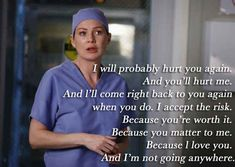 "Ugh, Grey's Anatomy has just shattered my heart time and time again. - 11 ""Grey's Anatomy"" Quotes That Will Shatter Your Heart Greys Anatomy Frases, Grey Anatomy Quotes, Grays Anatomy, Tv Quotes, Movie Quotes, Life Quotes, Heart Quotes, Pain Quotes, Nature Quotes"
