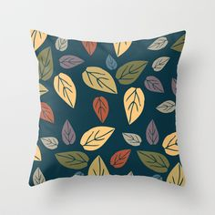 pattern leaves Throw Pillow by aticnomar - $20.00