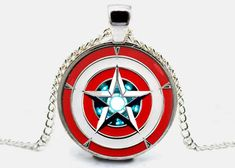 - Captain America Necklace Iron Man Pendant Arc Reactor Necklace Charm Jewelry Gift (with jewelry box) Captain America Necklace Iron Man Pendant Arc by savannahspace Dainty Diamond Necklace, Diamond Cross Necklaces, 14k Gold Necklace, Men Necklace, Necklace Charm, Bracelet Men, Baguette, Arc Reactor, Iron Man Captain America