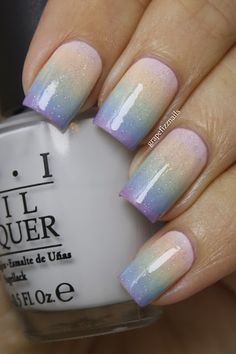 pastel gradient with fairy dust glitter