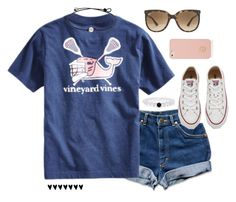 """""""505 followers?"""" by lillianjester ❤ liked on Polyvore featuring Vineyard Vines, Converse, Tory Burch and Ray-Ban"""