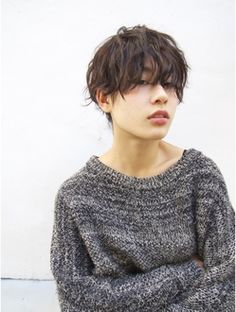 【nanuk】外国人風重ためショート×タイトなクセ感パーマ OKA