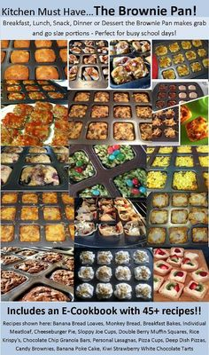 Ideas for Pampered Chef Brownie Pan!  http://www.facebook.com/PamperedChefwithTiffany http://pamperedchef.biz/tiffhampton