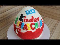 Kinder Überraschungs Torte Ü-Ei aus Sahne selber machen Anleitung Deutsch - YouTube