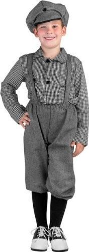 1920s Newsboy Outfit Costume child large14-16 school theater project victorian