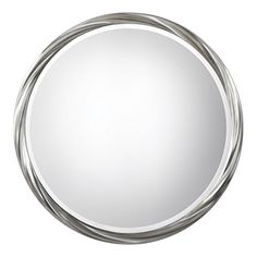"""Twisted Silver Ring Round Wall Mirror 36""""   Vanity Retro ..."""