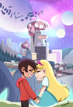 The End - Star vs The Forces of Evil by Its-YamiSwan on DeviantArt Star E Marco, Starco Comic, Princess Star, Disney Princess Drawings, Star Force, Evil Art, Star Wars, Disney Xd, Star Butterfly