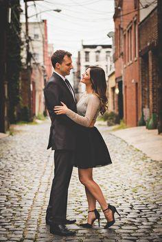 Engagement Shoot Styling in Hoboken NJ by fashion stylist Tiffany Piñero