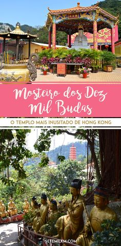 O Mosteiro dos Dez Mil Budas (ou Ten Thousand Buddha Monastery) é uma das atrações mais inusitadas de Hong Kong. Descubra a história do lugar, como chegar e veja muitas fotos do templo no blog Sete Mil Km. #HongKong #Viagem