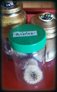 This is a wish jar that I made for my son. I'm going to give it to him one day when he is sad as a surprise gift to make him happy and maybe we will go out and make wishes.