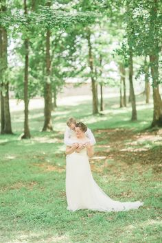 bride and groom portrait at a traditional farm wedding in greensboro NC