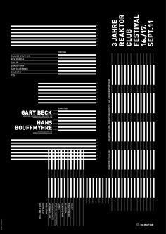 geometrical stiped poster design and editorial layout | typography / graphic design: matthias gubler | typosalon |