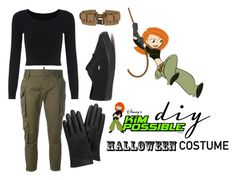 """DIY Kim Possible costume"" by aileensotelo ❤ liked on Polyvore featuring Dsquared2, Vans, Mulberry, Disney, disney, kimpossible, halloweencostume and DIYHalloween"