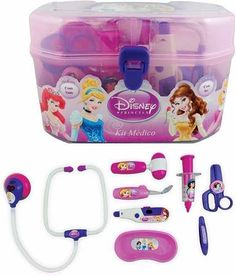 kit de médico com luz e som maleta princesas disney toyng