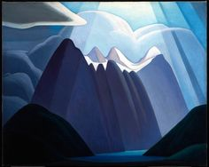 Very much in love with the paintings of Lawren Harris.