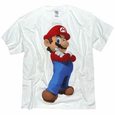 Men`s Clothing Super Mario Bros 3D Mario White T-Shirt Super Mario Bros 3D Mario White T-ShirtA modern impression of the famous Nintendo videogame character. Everyones favourite plumber Mario makes a super cool pose!Short sleeve 100% Cotton t-shirt http://www.comparestoreprices.co.uk/t-shirts/mens-clothing-super-mario-bros-3d-mario-white-t-shirt.asp