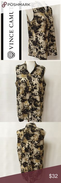Selling this Vince Camuto Sleeveless Blouse on Poshmark! My username is: dcgirl04. #shopmycloset #poshmark #fashion #shopping #style #forsale #Vince Camuto #Tops