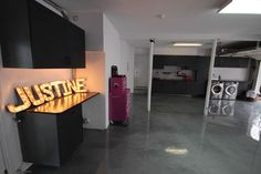 An overview of the remodeled garage space for Rev Run's daughter, Justine.