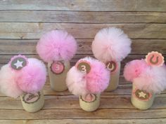 Cowgirl Mason Jar Centerpieces Cowgirl Party by UptownAbby on Etsy, $90.00