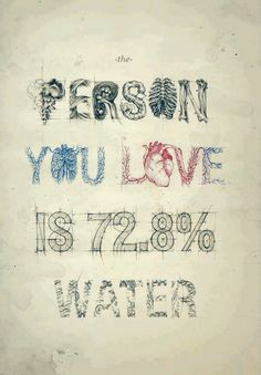 the person you love is water by Teagan White on Typography Served Typography Served, Typography Poster, Hand Typography, Creative Typography, Typo Logo, Inspiration Typographie, Grafik Design, Decir No, Hand Lettering