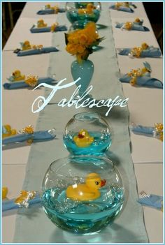 baby shower center pieces grils rubber duck - Google Search