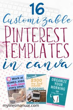 Pinterest Templates in Canva For Busy Bloggers. Grab 16 easy to edit pin graphics that you can use to quickly make fresh contents for Pinterest. Update your old posts by making new pinterest pins using these pinterest templates. These are great resource for bloggers using Pinterest to grow their blog. Click for more. #pinterestforbloggers #pinterestemplates #pingraphics #bloggingtips #blogging #canvatips #canvadesign
