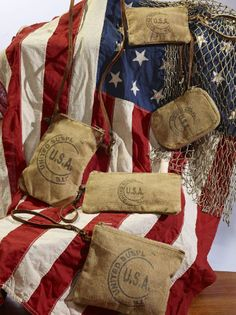 USA Stamped Collection #USA #America #handbag #crossbody #wrislet #tech #fashion #canvas #recycle #repurpose #reuse #patriotic