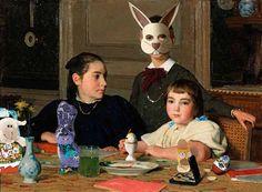 Albert Anker | Die Geschwister Zaeslin (1896) – Osteraccessoires