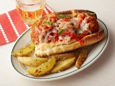 Get Meatball Subs Recipe from Food Network Alterations: I just used jar marinara from sprouts. Did not try the potatoes as we did salad instead.