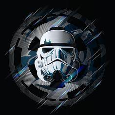 Star Wars Stormtrooper Art Print by Nathan Owens