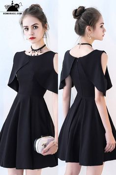 Little Black Chic Cold Shoulder Homecoming Dress with Sleeves,Short Prom Dress G.Little Black Chic Cold Shoulder Homecoming Dress with Sleeves,Short Prom Dress G.Home Wall Ideas Cheap Dresses, Sexy Dresses, Fashion Dresses, Short Dresses With Sleeves, Black Dress With Sleeves, Long Dresses, Formal Dresses, Casual Dresses, Short Sleeves