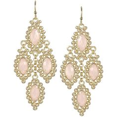 Fiona Earring in Rose - Kendra Scott Jewelry ($80) ❤ liked on Polyvore