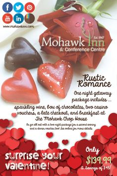 Surprise your Valentine with our Rustic Romance package - what a treat :)