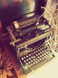 Old Typewriter- newest pick, Underwood no. 5 standard