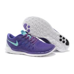 Lightweight Nike Free 5.0 Men's Running Shoe Purple Blue