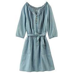 Mudd Belted Chambray Dress - Girls 7-16  #WhatToWear #StoryMoon