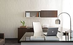 Our Index Dimensional Wallcovering for ACN Designs, with their InTouch office interiors project Office Furniture, Office Decor, Acoustic Wall Panels, Cork Wall, Commercial Interiors, Office Interiors, Modern Interior Design, Floor Chair, Wall Decor