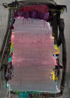 """Eric Sall, Washed Out, 2009, charcoal, acrylic and oil on canvas, 84"""" x 60"""""""