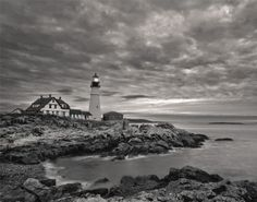 Portland Maine Clouds Ocean Lighthouse Nautical Wall 16x20 XL Picture Wall Photo