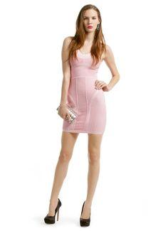 Scoop Bandage Crop Top Double Knots Bodycon Dress Set | Tops ...