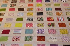 charm square scrap quilt top | made with charm squares and s… | Flickr