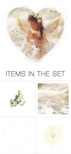 """🦋 In the Arms of an Angel 🦋"" by ragnh-mjos ❤ liked on Polyvore featuring art, hearts, angel, cats and pocket"