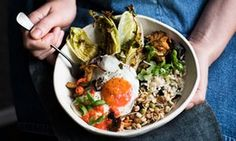 Bowl-based dinners. Start with a grain of choice, and then choose one flavourful thing to build the meal around