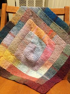 10 Stitch Blanket for Loom Knitters by Charity Windham for the colours