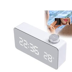 ₹1,117.52DecBest Beauty Mirror Knob Alarm Clock Personality Creative Thermometer Bedside Clock LED Luminous Student ClockElectrical Equipment & SuppliesfromTools, Industrial & Scientificon banggood.com Goods And Service Tax, Goods And Services, Bedside Clock, Alarm System, Digital Alarm Clock, Electrical Equipment, Knob, Personality, Industrial