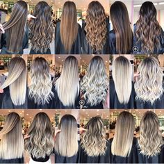 Trendy Hair Highlights Picture Description The most frequently asked question about hair color: What is the difference between balayage, flamboyage, ombre, sombre and foiling? Balayage Hair Color Technique Balayage is a freehand painting, it Hair Color Balayage, Blonde Balayage, Hair Highlights, Ombre Hair Color For Brunettes, Icy Blonde, Beige Blonde, Hair Color Techniques, Hair Styler, Pinterest Hair