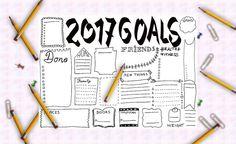2017 goals journal printable planner agenda di LaSoffittaDiSte