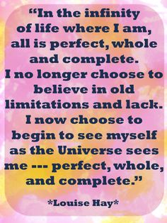 Discover and share Louise Hay Daily Quotes. Explore our collection of motivational and famous quotes by authors you know and love. Positive Life, Positive Thoughts, Positive Quotes, Gratitude Quotes, Affirmations Louise Hay, Positive Affirmations, Energy Drinks, Mantra, Louise Hay Quotes