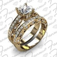 Engagement or wedding shinning ring made up of yellow gold:-  This ring is made up of  14k yellow Gold...... click on picture to read more..