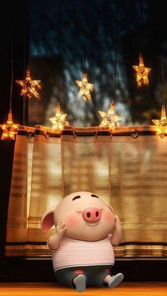 Wallpaper Fofos, Pig Wallpaper, Trendy Wallpaper, Cartoon Wallpaper, Disney Wallpaper, Cute Wallpapers, Iphone Wallpaper, This Little Piggy, Little Pigs